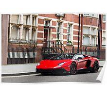 Lamborghini Aventador 50° Anniversario Roadster LP720-4 Poster