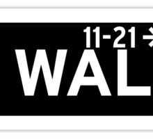 Wall St., New York Street Sign Sticker