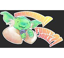 Yoda Jokes Photographic Print