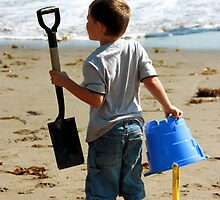 Have Bucket & Shovel...Will Build Sand Castle by Fetzen Fotography