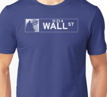 Wall St., New York Street Sign - Contrast Version Unisex T-Shirt