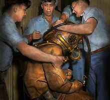 Steampunk - Diver - A load off my shoulders 1936 by Mike  Savad