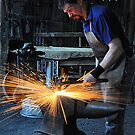 Blacksmith - Australiana Village Wilberforce NSW Australia by Bev Woodman