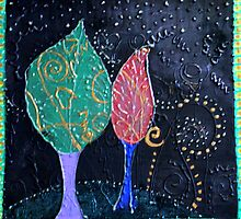 REDREAMING TWO TREE'S by WENDY BANDURSKI-MILLER
