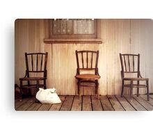 We Three Chairs Metal Print