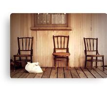 We Three Chairs Canvas Print