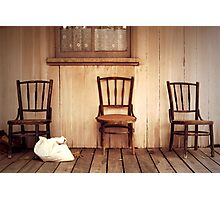 We Three Chairs Photographic Print