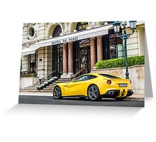 Ferrari F12 Berlinetta Greeting Card