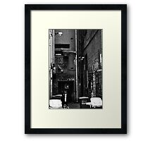 An alleyway in Melbourne Framed Print