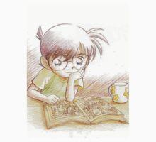 Detective Conan: Reading Comic Detective Conan One Piece - Short Sleeve