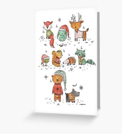 Woodland Christmas Greeting Card