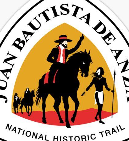 Juan Bautista de Anza Trail Sign, USA Sticker