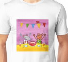 Mouse & Bear Party Unisex T-Shirt