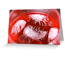 Ice Cube Fireworks... Greeting Card