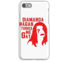Diamanda Hagan Turned Me Gay (Red) iPhone Case/Skin