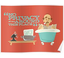 """Walt Disney World - Carousel of Progress - Uncle Orville - """"No Privacy!"""" Poster"""