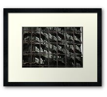 Fractured Apartments Framed Print