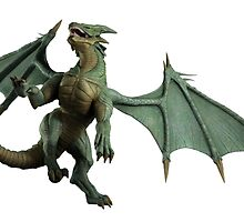 Large Green Dragon - Turning by algoldesigns