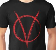 V is for Vendetta, W was for War.. Unisex T-Shirt