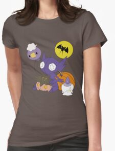 Pokemon Halloween - unshaded version Womens Fitted T-Shirt