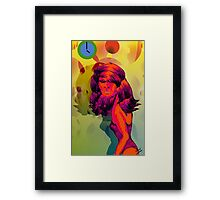 Psychedelic Spies Pencil Sketch.. Framed Print