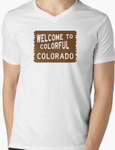 Welcome to Colorful Colorado Sign Mens V-Neck T-Shirt