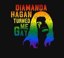 Diamanda Hagan Turned Me Gay (Rainbow) Unisex T-Shirt