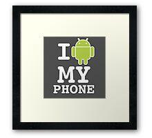 I LOVE Android Design! Framed Print