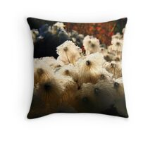 March of the Fuzzy Heads Throw Pillow