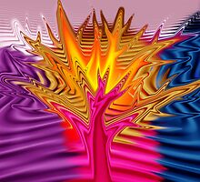 Billy's Tree (Abstract) by Jan Clarke