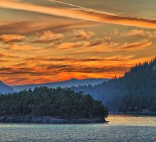 Canada. British Columbia. Islands of Georgia Strait. Sunset. by vadim19