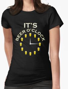 It's Beer O'clock Womens Fitted T-Shirt
