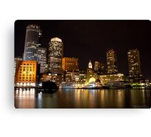 Boston Harbor at Night Canvas Print