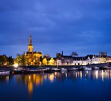 Maastricht, Sint-Martinuskerk And Maas River by Marc Garrido Clotet