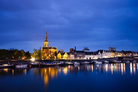Maastricht, Sint-Martinuskerk And Maas River by Marc Garrido Clotet