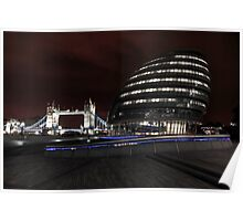 Tower Bridge and The Glass Gonad Poster