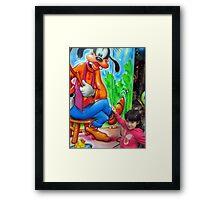 I love Goofy Framed Print