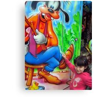 I love Goofy Canvas Print