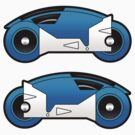 TRON Classic Blue Lightcycle Stickers by Eozen