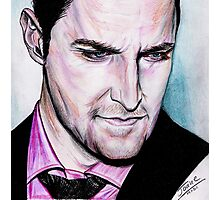 Richard Armitage, thoughtful. Photographic Print