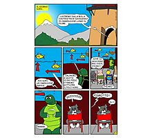 "Rick the chick  ""THE MAGIC SHELL (Il briefing) parte 27"" Photographic Print"