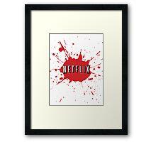 Netflix Splatter Framed Print