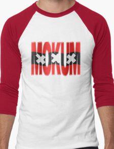 Mokum + Amsterdam vlag Men's Baseball ¾ T-Shirt