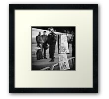 Occupy Demo in Berlin #2 Framed Print