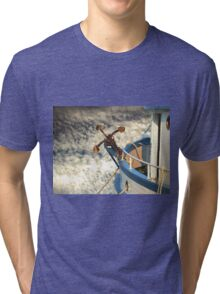 Boat with anchor in the sky Tri-blend T-Shirt
