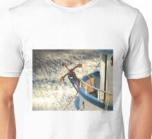 Boat with anchor in the sky Unisex T-Shirt