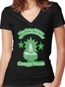 The Holy Stone of Clonrichert Women's Fitted V-Neck T-Shirt
