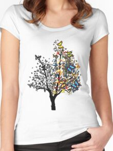 Butterfly Tree Women's Fitted Scoop T-Shirt