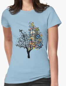 Butterfly Tree Womens Fitted T-Shirt