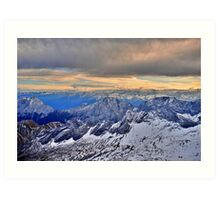 Mountain Alps Art Print